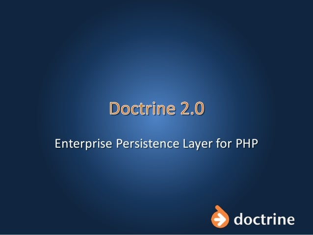 Enterprise Persistence Layer for PHP