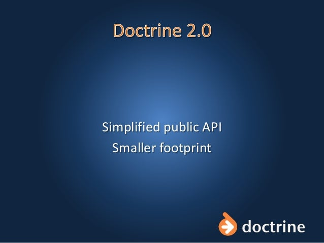 Simplified public API Smaller footprint