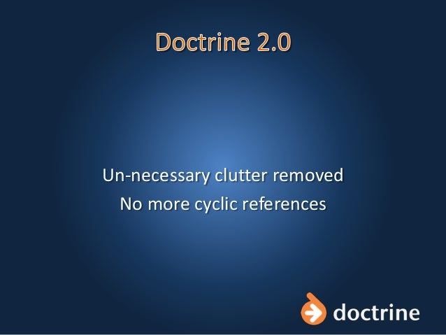 Un-necessary clutter removed No more cyclic references