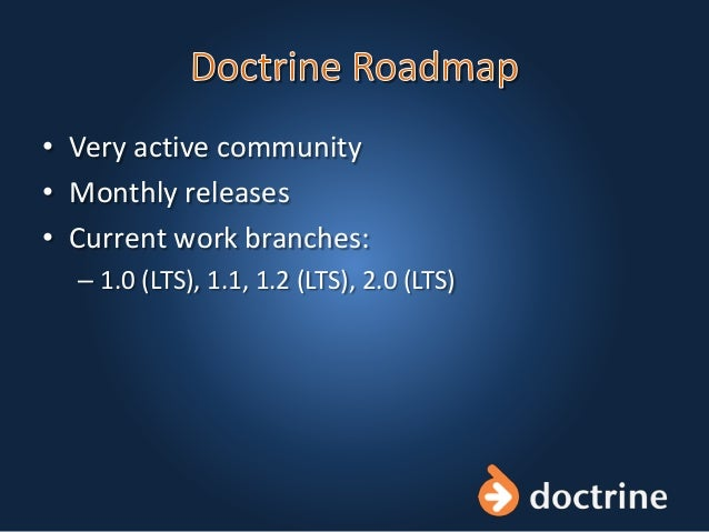 • Very active community • Monthly releases • Current work branches: – 1.0 (LTS), 1.1, 1.2 (LTS), 2.0 (LTS)
