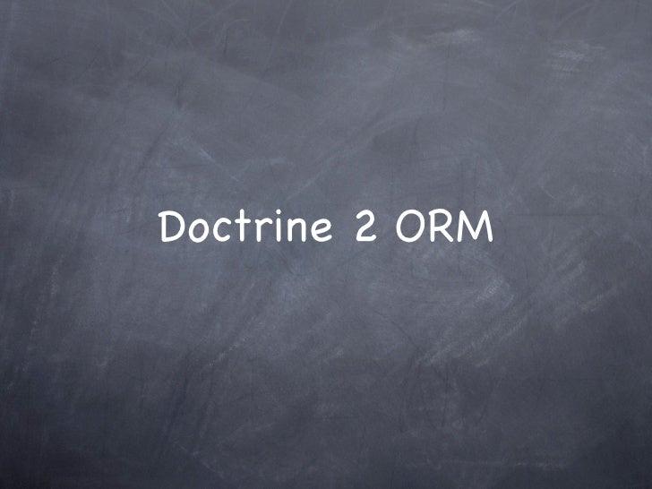 Doctrine 2 ORM