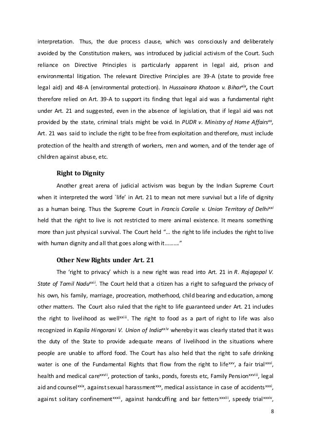 judicial activism and legal aid in india Law, poverty and legal aid  judicial activism and legal aid 175  83 outline of a plan of action for legal aid in the criminal justice system in india 393.