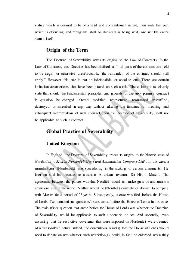 doctrine of separability Ajbpcljuly -september, 2009 the doctrine of separability under nigerian law ,dr emilia onyema • introduction.