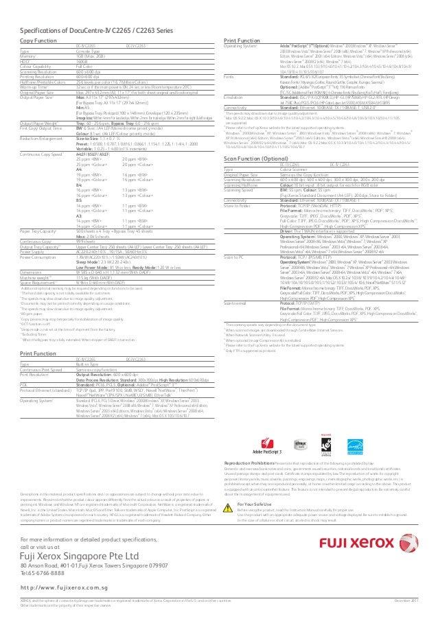 DocuCentre-IV C2265 C2263