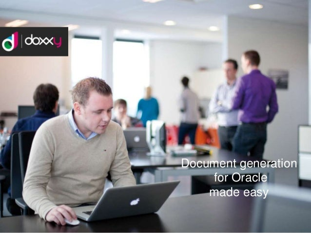 Document generation for Oracle made easy