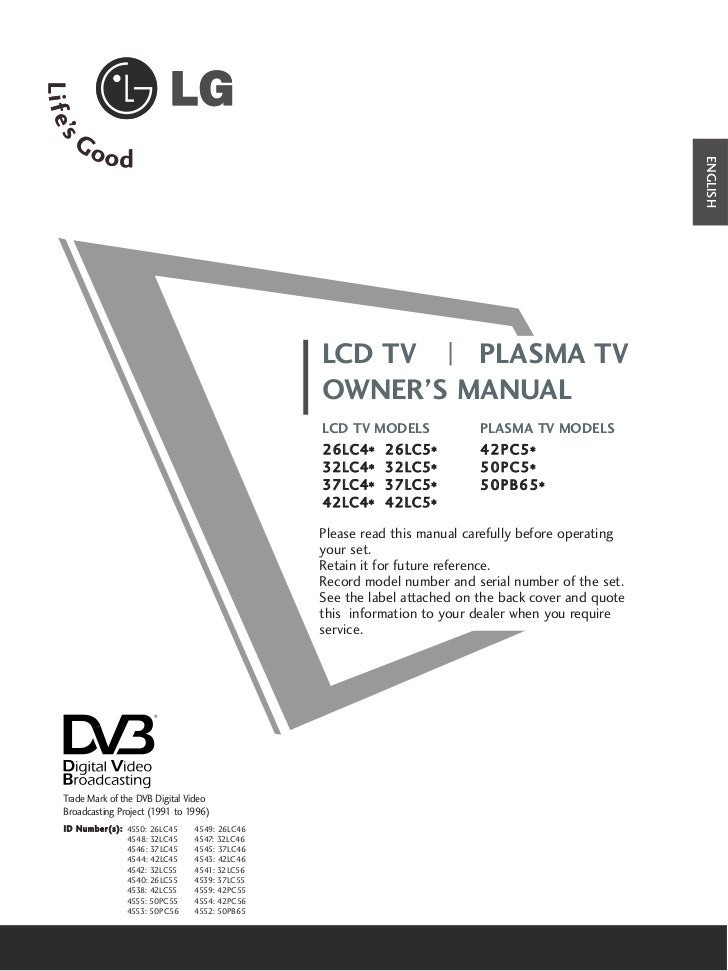 ENGLISH                                                      LCD TV   PLASMA TV                                           ...