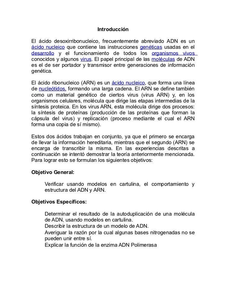 Estructuras Del Adn Y Arn