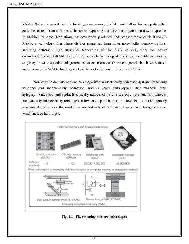 emerging memory technologies Document