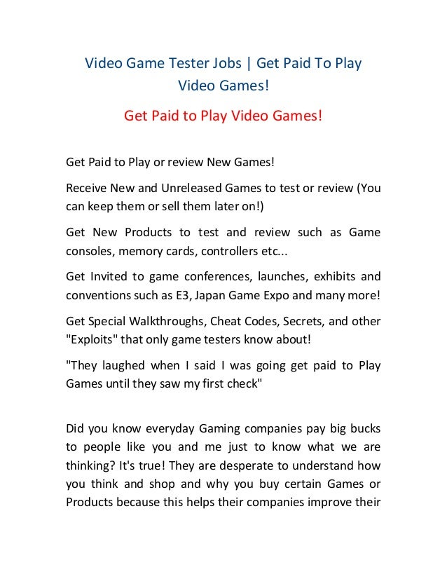 Video Game Tester Jobs | Get Paid To Play Video Games! how