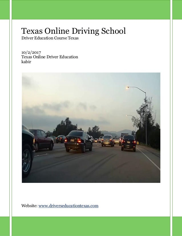 Drivers Ed Online >> Texas Drivers Ed Online