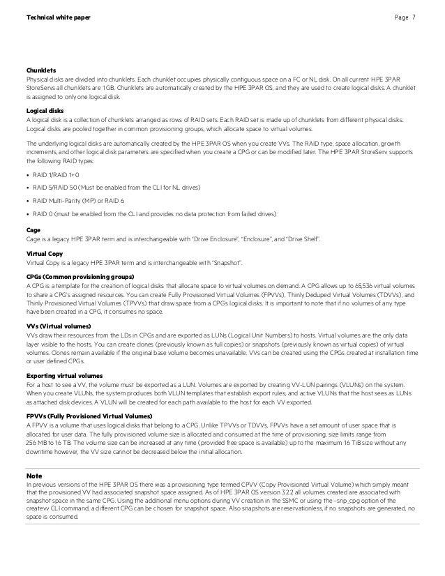 HP3 PAR StoreServ - Storage Best Pratices