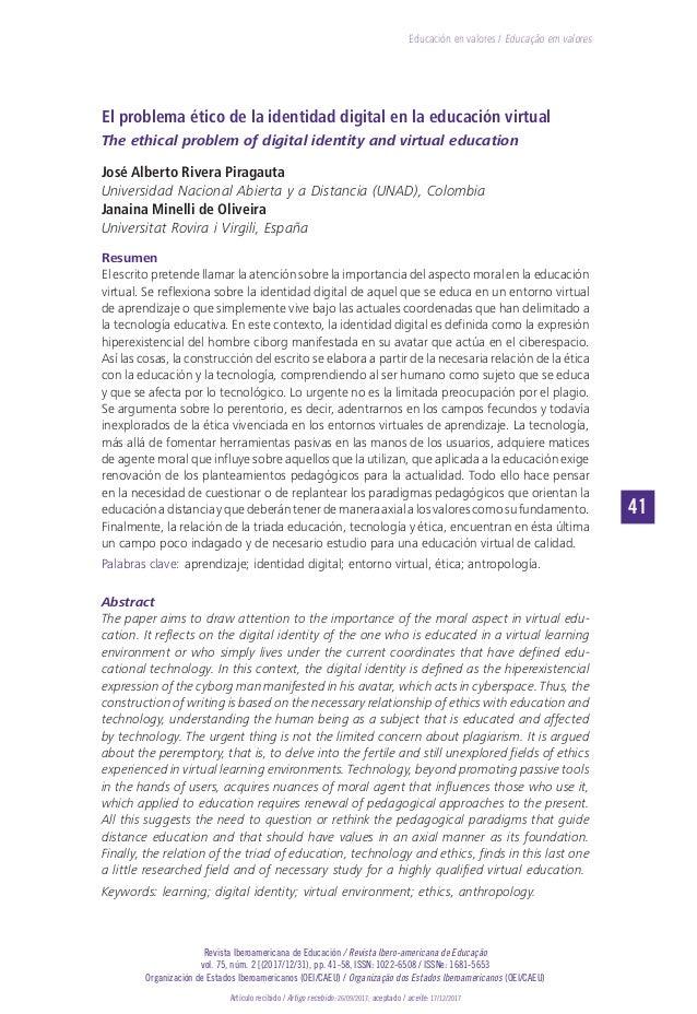 41 Revista Iberoamericana de Educación / Revista Ibero-americana de Educação vol. 75, núm. 2 [(2017/12/31), pp. 41-58, ISS...