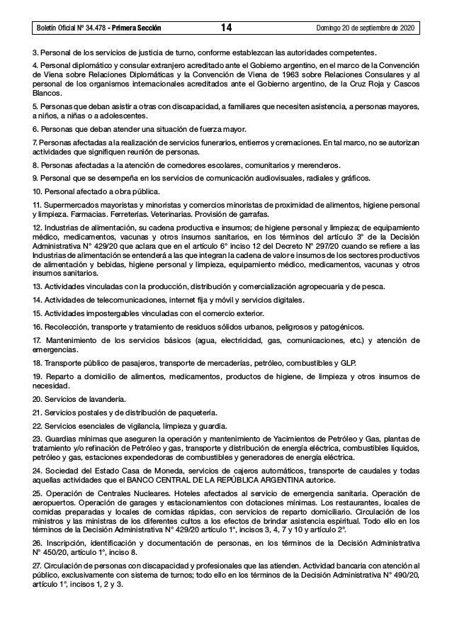 Boletín Oficial Nº 34.478 - Primera Sección 14 Domingo 20 de septiembre de 2020 3. Personal de los servicios de justicia...