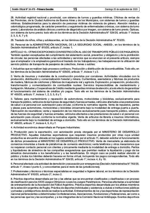 Boletín Oficial Nº 34.478 - Primera Sección 15 Domingo 20 de septiembre de 2020 28. Actividad registral nacional y provi...