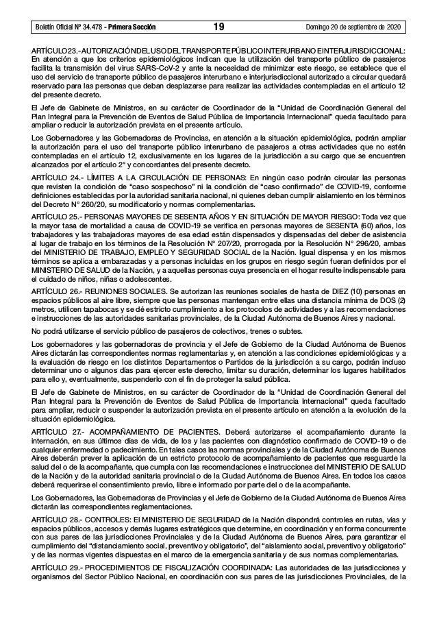 Boletín Oficial Nº 34.478 - Primera Sección 19 Domingo 20 de septiembre de 2020 ARTÍCULO23.-AUTORIZACIÓNDELUSODELTRANSPO...