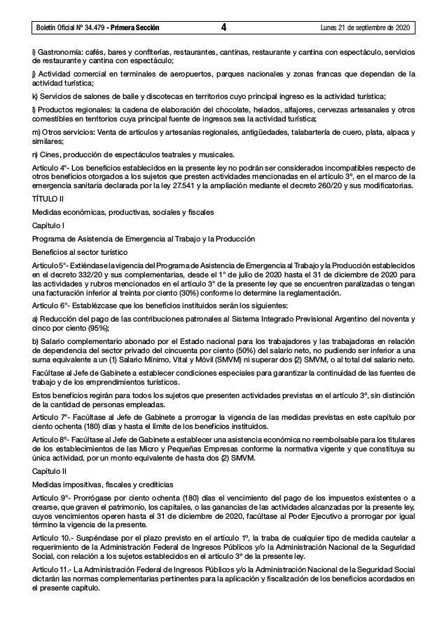Ley N° 27.563, Ley de sostenimiento y reactivación productiva de la actividad turística Slide 2