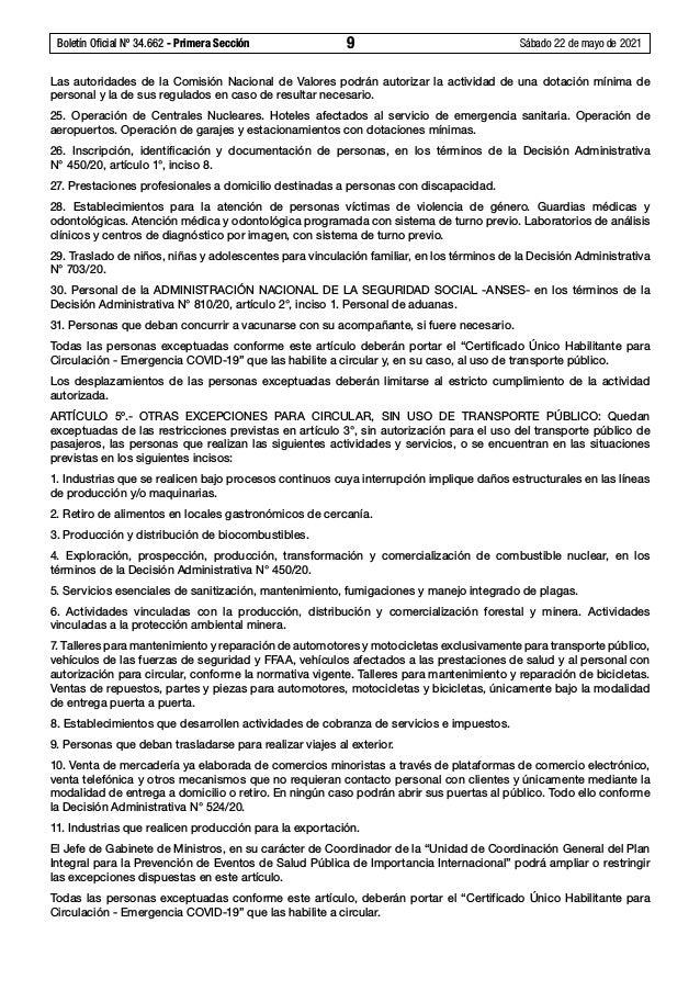 Boletín Oficial Nº 34.662 - Primera Sección 9 Sábado 22 de mayo de 2021 Las autoridades de la Comisión Nacional de Valor...
