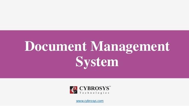 www.cybrosys.com Document Management System