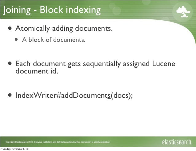Joining - Block indexing •
