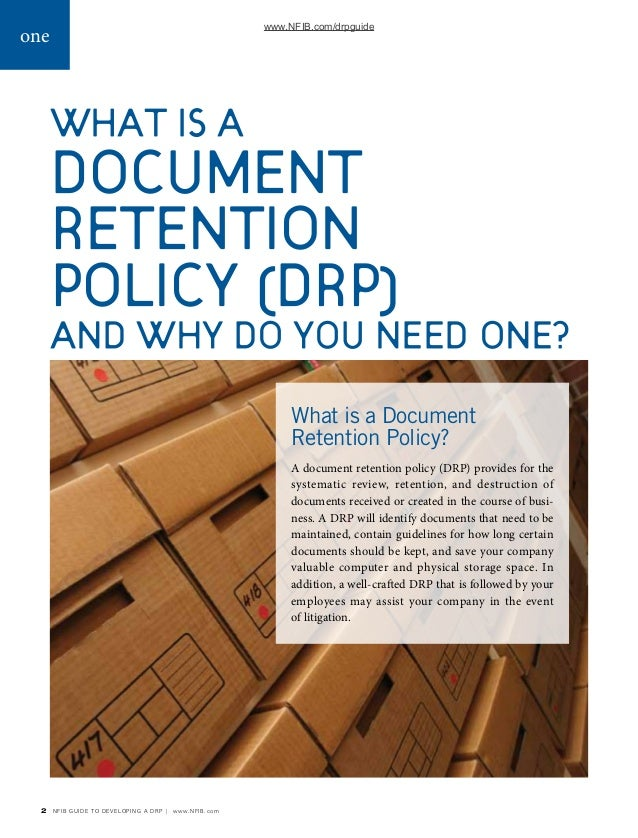 Document Retention-Policy-Guide-Nfib