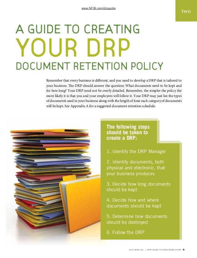 Document RetentionPolicyGuideNfib