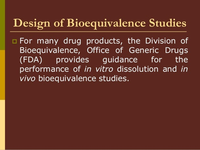 Variability and Impact on Design of Bioequivalence Studies ...