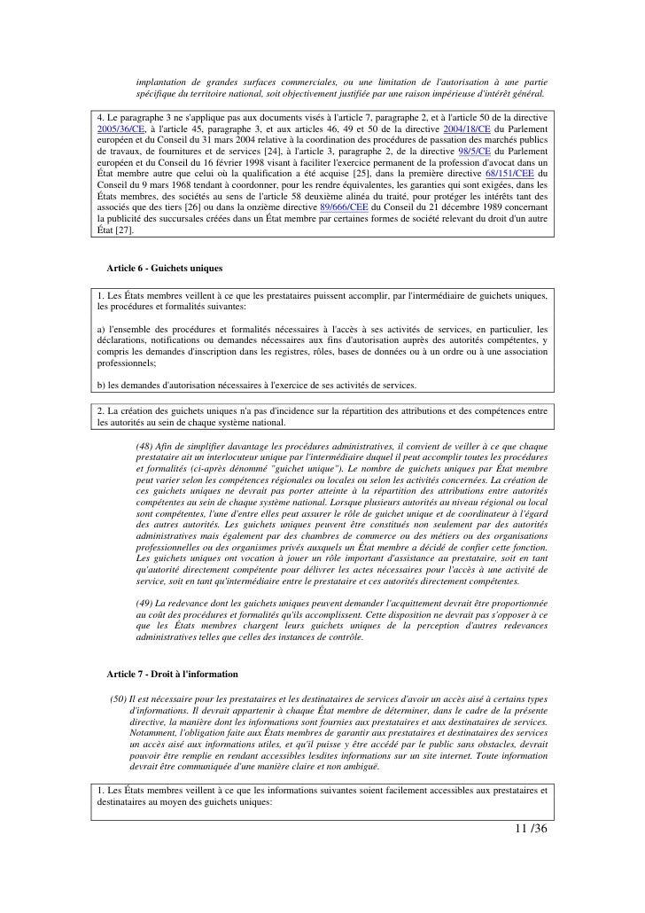 implantation de grandes surfaces commerciales, ou une limitation de l'autorisation à une partie           spécifique du te...