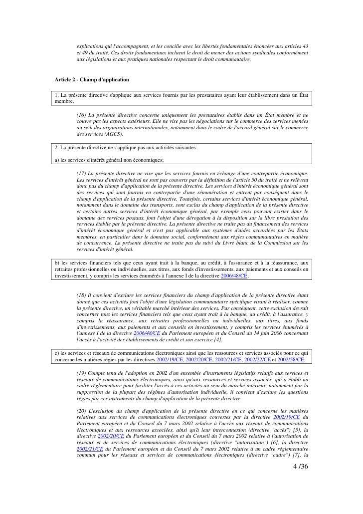 explications qui l'accompagnent, et les concilie avec les libertés fondamentales énoncées aux articles 43           et 49 ...