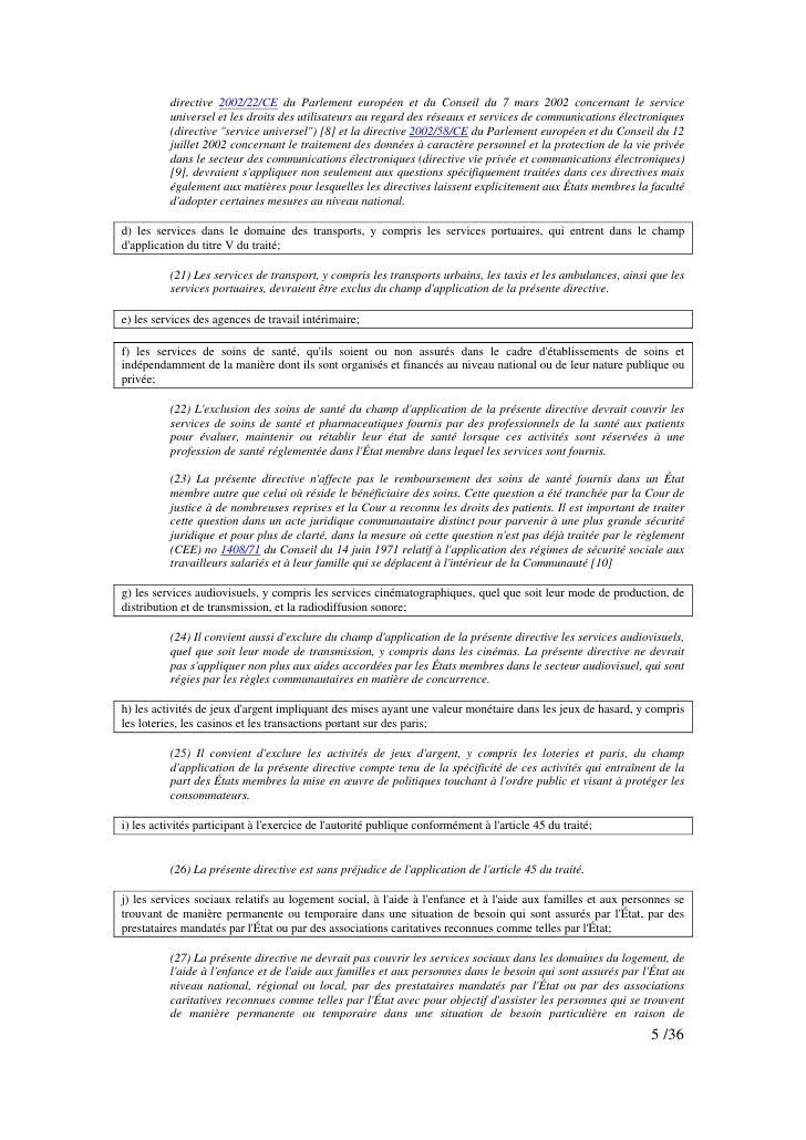 directive 2002/22/CE du Parlement européen et du Conseil du 7 mars 2002 concernant le service           universel et les d...