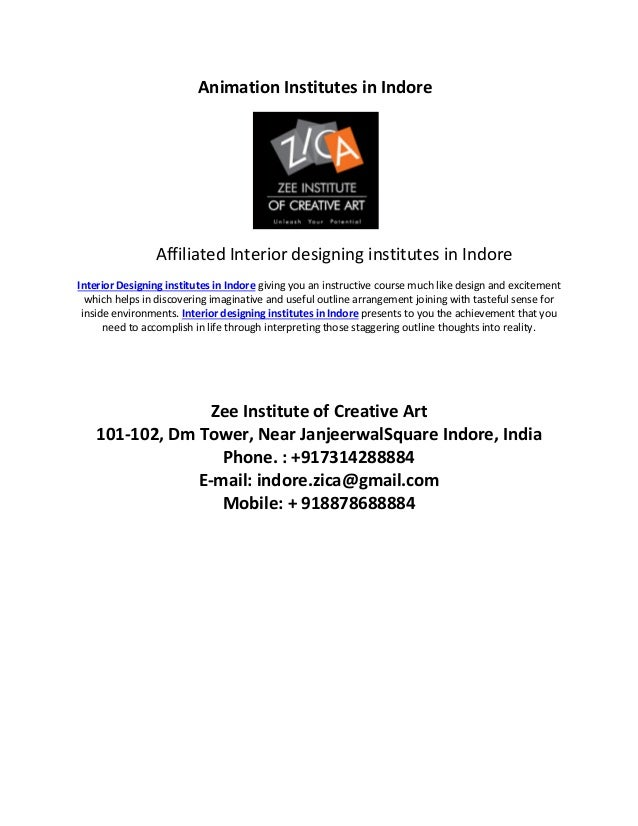 Animation Institutes In Indore Affiliated Interior Designing