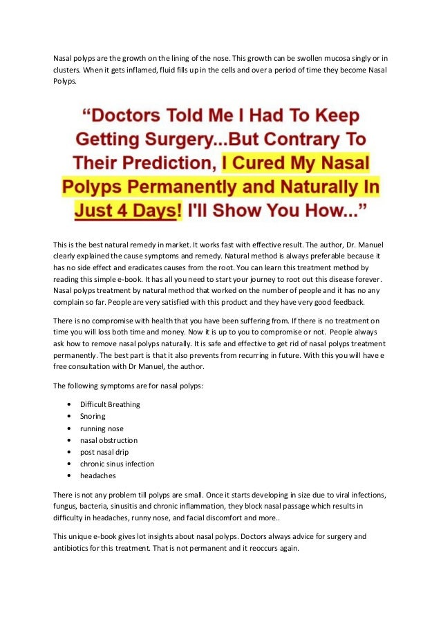 How To Get Rid Of Nose Polyps Naturally