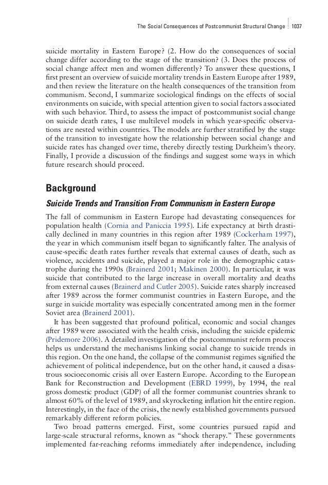 an analysis of the effects of communism in eastern europe Fp7-ideas-erc,privmort,after the collapse of communism 3 to 7 million ¿ excess  the impact of privatization on the mortality crisis in eastern europe  final report summary - privmort (the impact of privatization on the mortality.