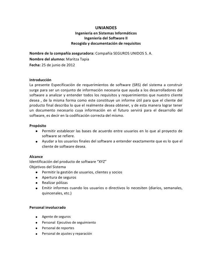 UNIANDES                          Ingeniería en Sistemas Informáticos                               Ingeniería del Softwar...