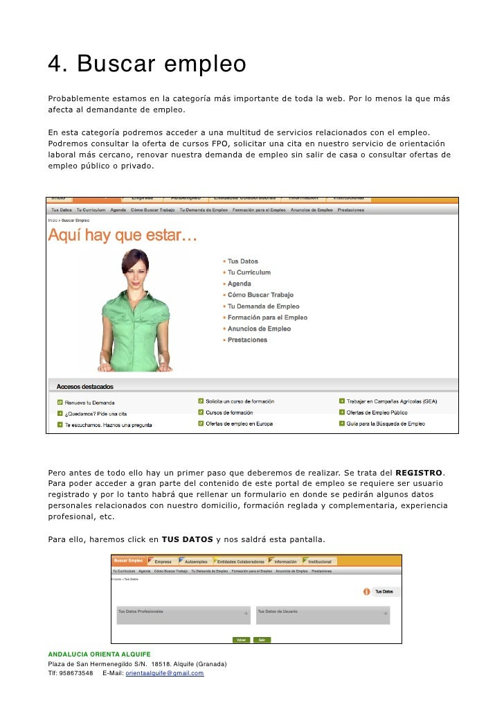 documentaci n oficina virtual de empleo sae On sae oficina virtual de empleo ofertas