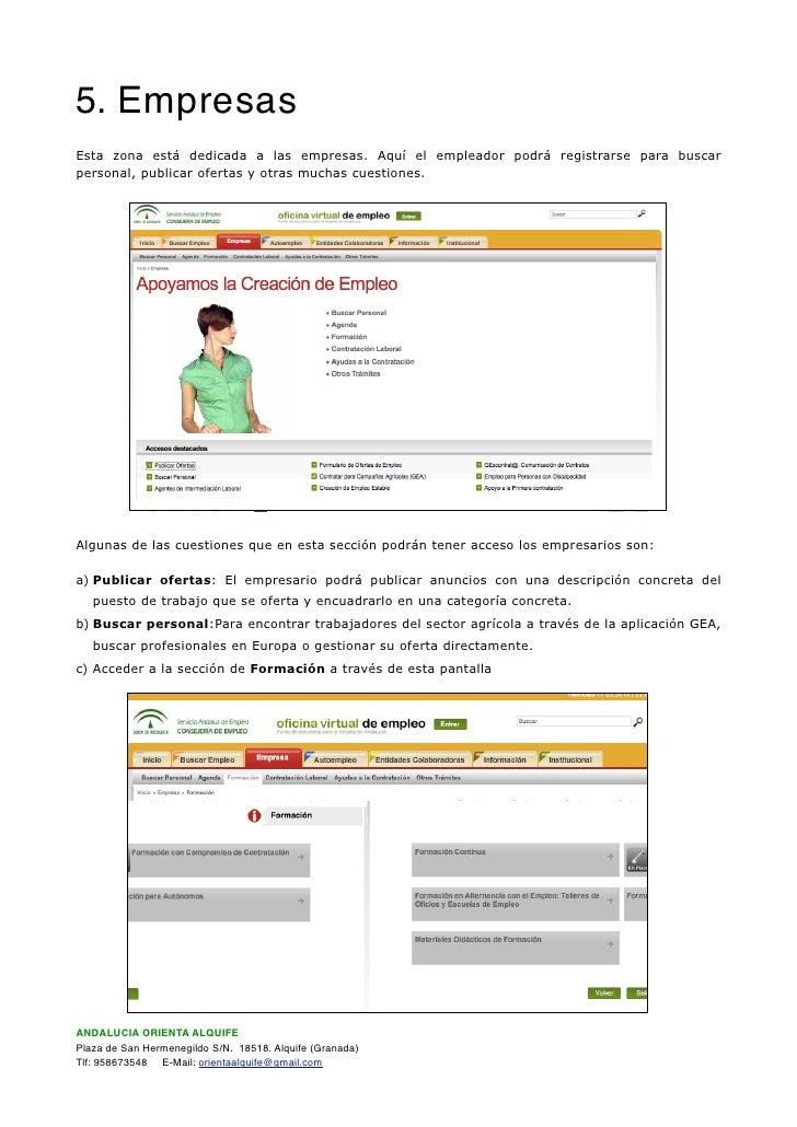 Documentaci n oficina virtual de empleo sae - Oficina virtual del sae ...