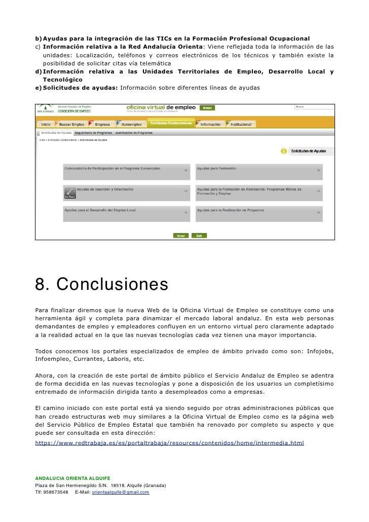 Documentaci n oficina virtual de empleo sae for Cita oficina virtual de empleo