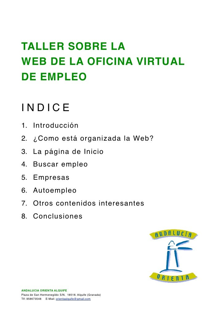 Documentacion oficina virtual sae for Oficina virtual empleo