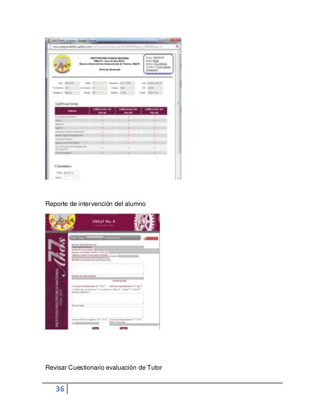 36Reporte de intervención del alumnoRevisar Cuestionario evaluación de Tutor