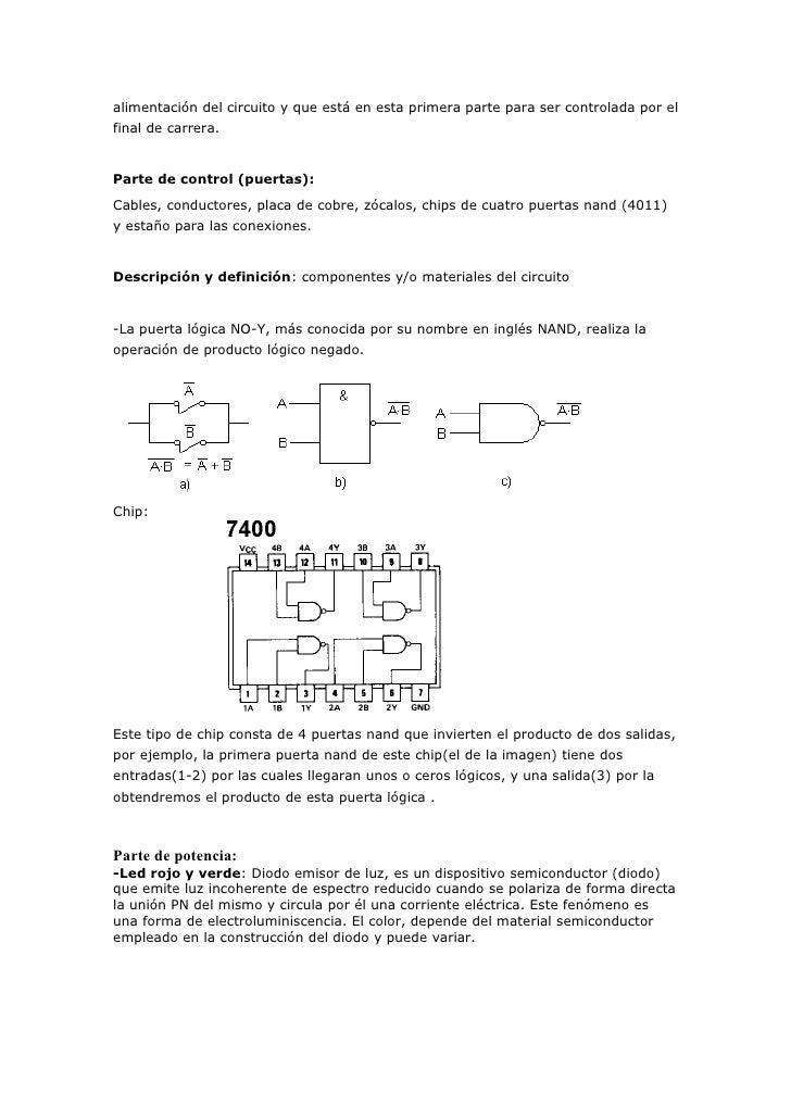 Circuito Logico Definicion : Documentacion proyecto tecnologia