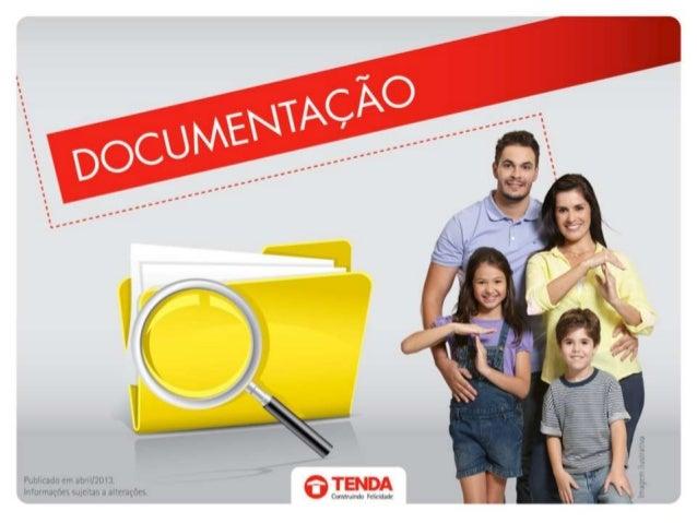 Feirão da Casa Própria Tenda - Documentação
