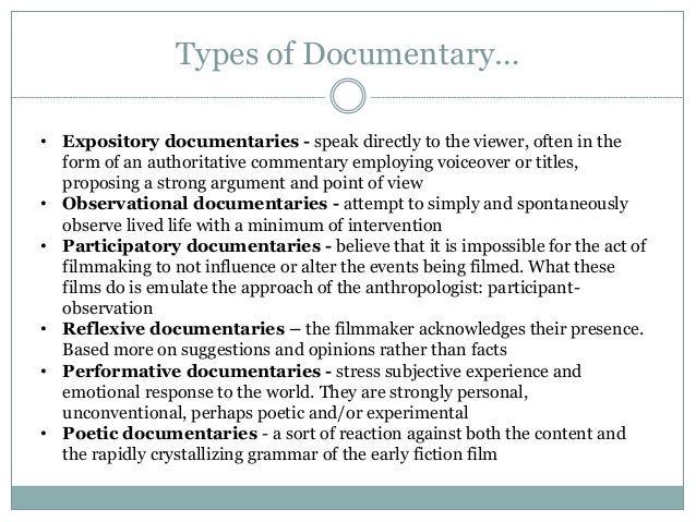 documentary history  u0026 modes