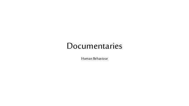 Documentaries Human Behaviour