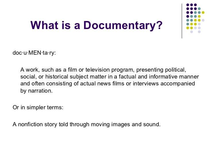 Documentary Making 101 Slide 2
