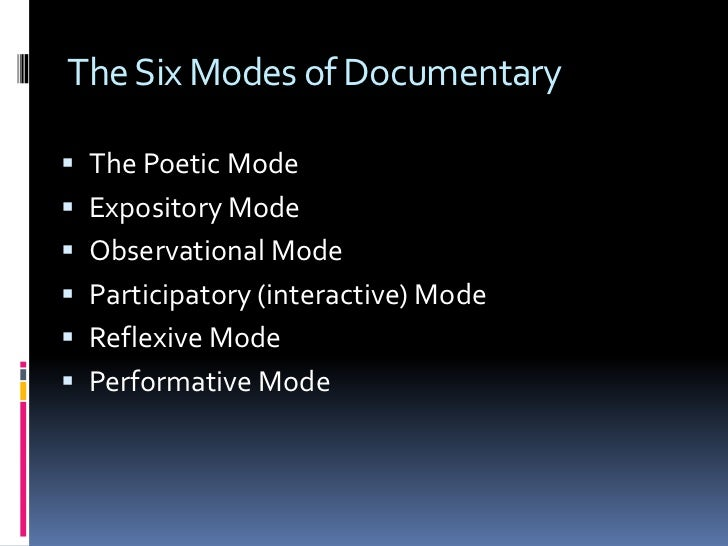 documentary conventions