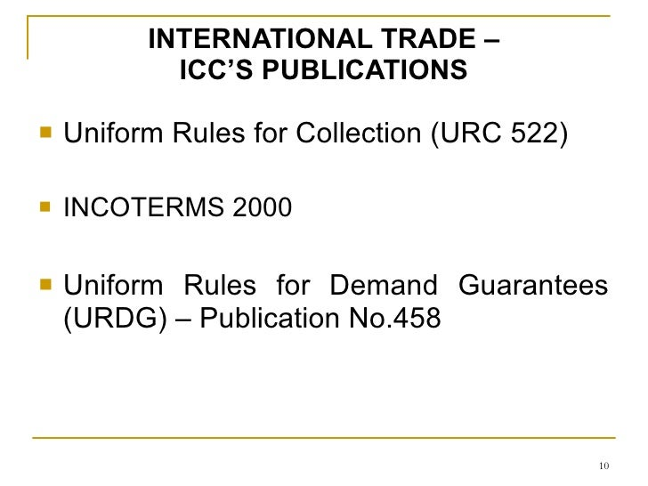 Uniform rules for demand guarantees icc publication no.458