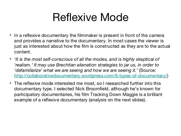 research on documentary modes