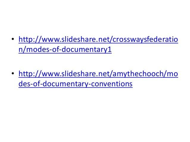 documentary mode theory  bill nichols