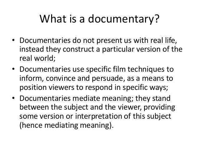 an introduction to the analysis of filming the documentaries Film 20a fall 2013 intro to film studies an introduction to the basic tools of film analysis work together to create meaning in a range of films.