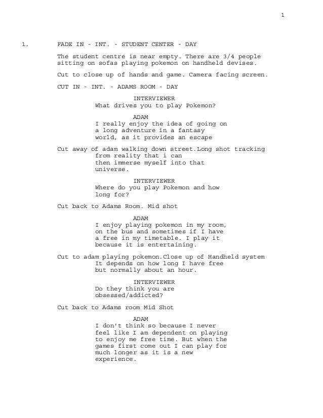 Documentary Script 3rd Draft