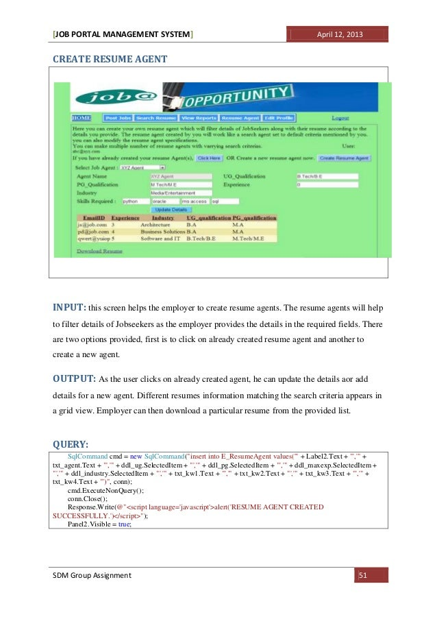 job portal system